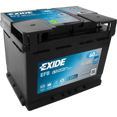 EXIDE EL600 EFB START-STOP Autobatterie Batterie Starterbatterie 12V 60Ah EN640A