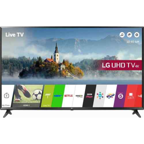 LG 65UJ630V 65 Inch Smart LED TV 4K Ultra HD Freeview HD and Freesat HD 3 HDMI