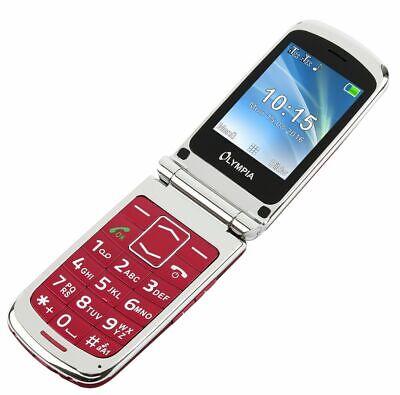 Olympia Estilo Plus Rojo Senior Comfort Teléfono Móvil Con Teclas Grandes