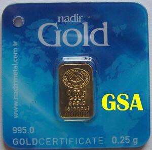 GOLDBARREN - Z.B.: HERAEUS / DEGUSSA / UMICORE / NADIR GOLD - WIE GOLDMÜNZE