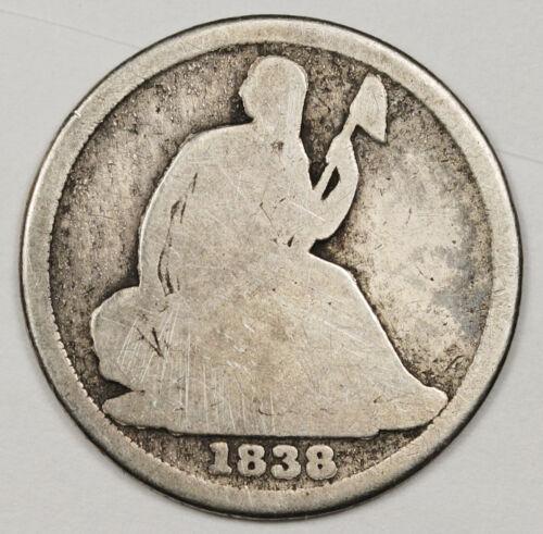 1838-o Liberty Seated Half Dime.  Good.  146812