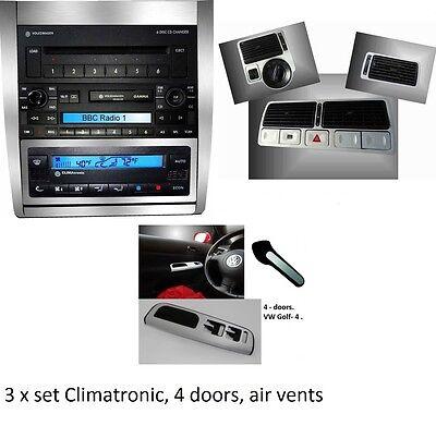 3 X SET alu alluminio spazzolato adesivi  per VW Golf 4 IV,Jetta  - Jetta Seta