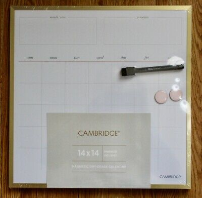 Cambridge Workstyle Dry Erase Calendar Board 14 X 14