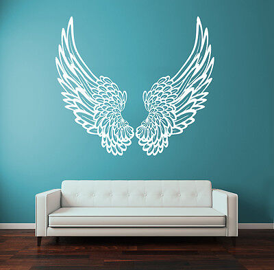 Wall Decal Vinyl Sticker Big Wings Angel God Guardian Bird Kids Children r1323