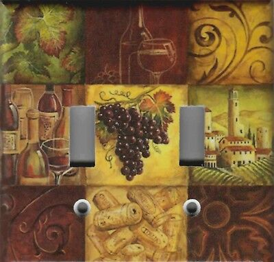 WINE GRAPES MOSAIC TUSCAN KITCHEN HOME DECOR LIGHT SWITCH PLATES AND OUTLETS ()