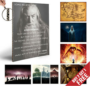 THE-LORD-OF-THE-RINGS-Poster-Options-JRR-Talkien-HOME-WALL-DECOR-LOTR-A4-Print