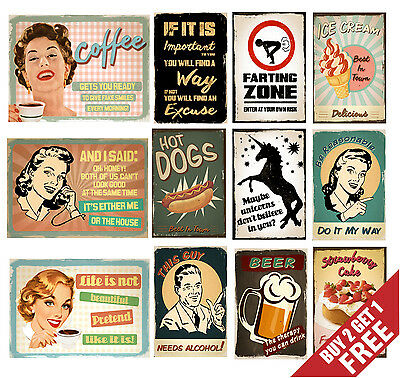 RETRO VINTAGE QUOTE POSTER SIGNS A3 A4 Funny Prints Valentine Day Wall Art Deco