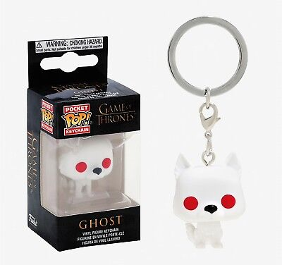 Ghost Game Of Thrones (Funko Pocket Pop Keychain: Game of Thrones - Ghost Vinyl Figure Keychain #34910)