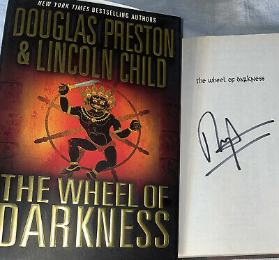 SIGNED The Wheel of Darkness Book by Douglas Preston 1st Edition Hardcover HC DJ