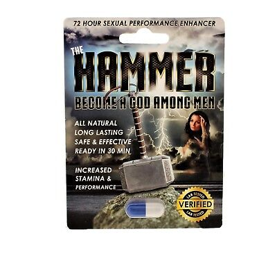 The Hammer Mens Powerful Sexual Health Performance Libido Enhancing Supplement