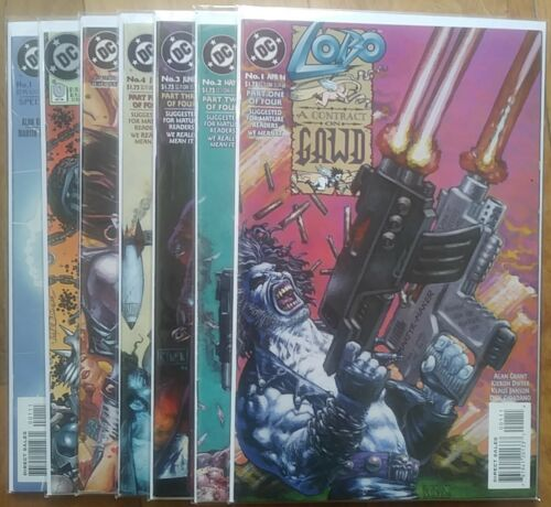 LOBO Lot of 7: CONTRACT ON GAWD 1 2 3 4 BLAZING CHAIN OF LOVE / #0 / SPECIAL #1