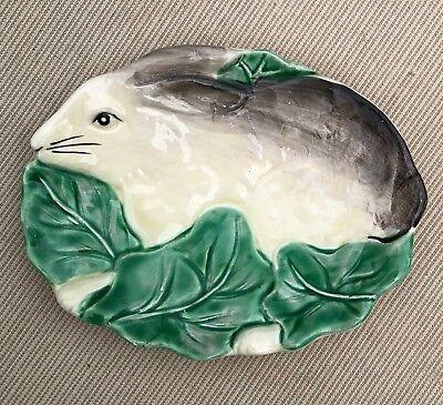 Vintage Bunny Rabbit Soap Dish Small Plate Trinket Tray The Haldon Group 1987