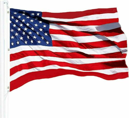 G128 – American Flag US USA | 5x8 ft | NYLON Commercial-Grade, Embroidered Stars