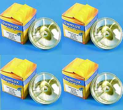4 Stück OMNILUX PAR36 6,4V / 30W Halogenlampe PAR 36 PIN SPOT Pinspot OMNILUX Par 36 Pin Spot