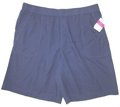FRESH PRODUCE 2X Moonlight Navy BLUE Beachcomber Cotton Shorts $65.00 NWT New -