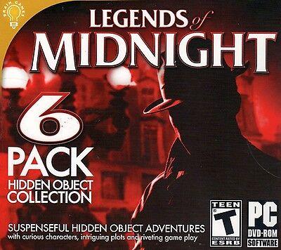 Computer Games - Legends Of Midnight PC Games Window 10 8 7 XP Computer hidden object seek & find