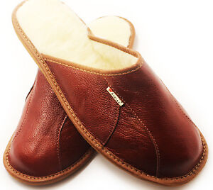 SLIPPERS-SCUFFS-GENUINE-LEATHER-SIZE-Mens-7-8-8-5-9-5-10-11-12-12-5Browns