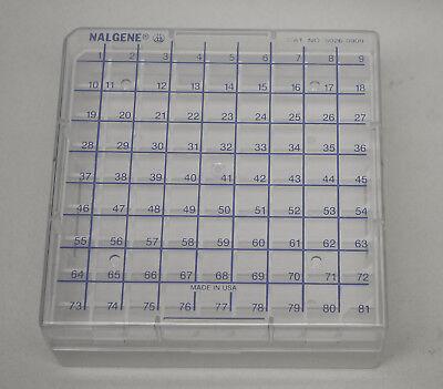 Thermo Nalgene 5026-0909 9 X 9 Cryovial Cryobox Cryogenic Vial Rack Box New