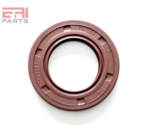 EAI Viton Oil Shaft Seal 30x52x7mm Grease Dbl Lip w/ Stainless Steel Spring
