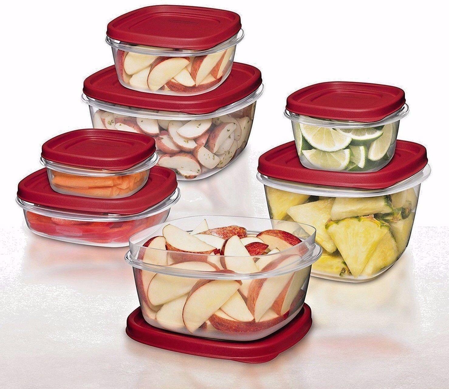 0.5 /1.25 /2 /3/5/7 cups Rubbermaid BPA-FREE Plastic Food St