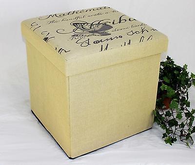 Taburete Plegable 2148 Caja de Almacenamiento 40cm Cubo-Asiento Aparador