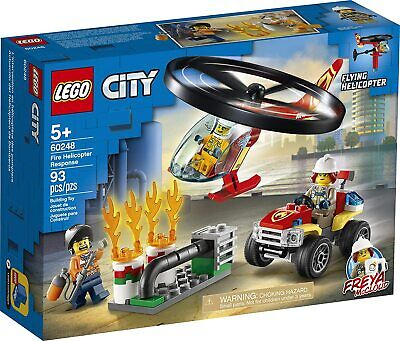 NEW SEALED Lego City 60248 Fire Helicopter Response Set! *IN HAND*