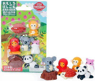 Japanese Iwako Forest Animals Eraser Set #1218
