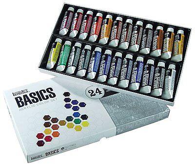Liquitex BASICS Acrylic Paint Tube 24-Piece Set, New, Free Shipping