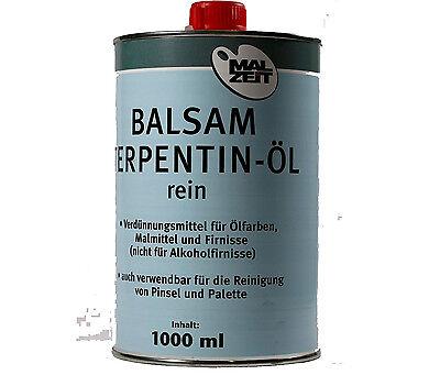 amp-artshop© Balsam Terpentin-Öl 1000 ml bzw  1 Liter