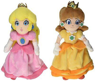 2pcs Super Mario Bros Mario Princess Peach and Daisy Stuffed Plush Doll Toy 7