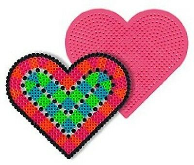 Large Heart Pegboard  for Perler fuse beads - NEW COLORS MAY VARY](Colored Pegboard)