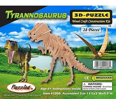 3-D Wooden Puzzle - Small Tyrannosaurus -Affordable Gift for your Little One