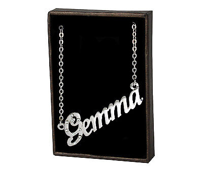 Name Necklace Gemma – 18K Gold Plated   Jewelry Bridal Love Best Friend