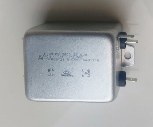 F.AM.DB.3600.ZF.000 Chassis Mount Power Line Filter [FIL3600] to 250V 40A KEMET
