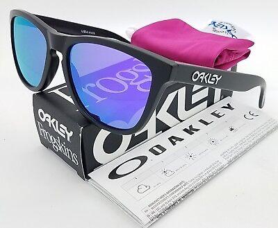 NEW Oakley Frogskins sunglasses Black Violet Irdium 24-298 AUTHENTIC Frog (Oakley Frogs)