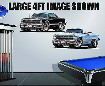 1966-7 Ford Fairlane GT 390 4ft Long Wall Graphic