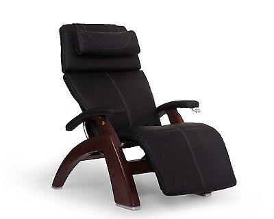 Human Touch Chestnut PC-420 Classic Plus Leather Zero Gravity Perfect Chair -BLK Chestnut Leather Recliner