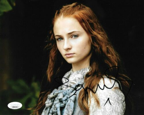 Sophie Turner Game of Thrones Autographed Signed 8x10 Photo JSA COA #24