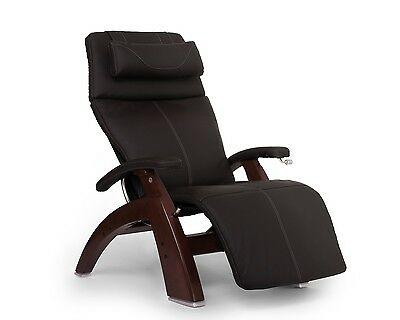 Human Touch Espresso Leather PC-420 Chestnut Zero Gravity Perfect Chair Recliner Chestnut Leather Recliner