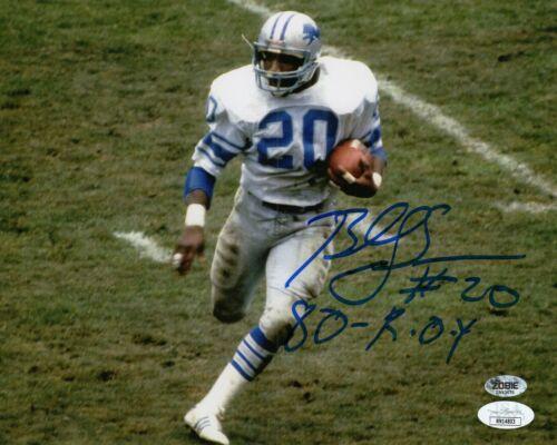 Billy Simms Autograph Signed 8x10 Photo - Detroit Lions (JSA COA)