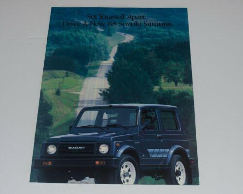 1986 Suzuki Samurai Brochure Canada Great Shape