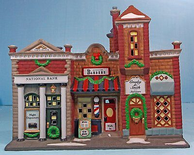 """DEPARTMENT 56 CHRISTMAS IN THE CITY """"RIVERSIDE ROW SHOPS""""  #58888"""