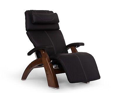 PC-610 Human Touch Perfect Chair Espresso Leather Jade Heat Memory Foam Back Cvr
