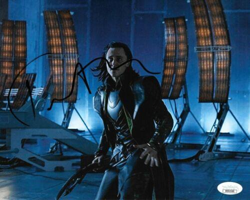 Tom Hiddleston Avengers Autographed Signed 8x10 Photo COA JSA