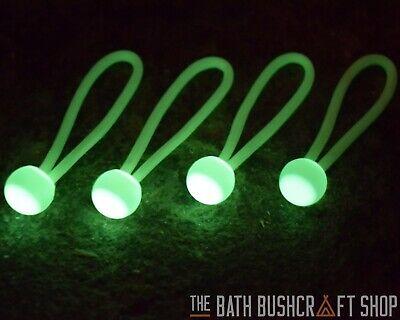 4 x GLO PULLS GLOW IN THE DARK ZIPPER PULLS GEAR KIT MARKERS BUSHCRAFT SURVIVAL](Glow In The Dark Gear)