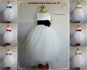 Flower-Girl-Dress-Party-Bridesmaid-Pageant-size-2-4-6-8-10-12-Flowergirl-Dress