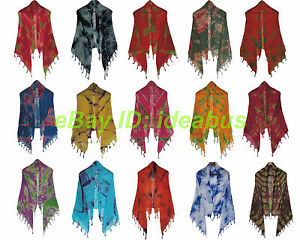 1-2-3pcs-Asian-Handmade-Colorful-Tie-Dye-Lightweight-Cotton-Summer-Scarf-Shawl