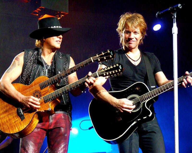 Jon Bon Jovi & Richie Sambora, 8x10 Color Photo
