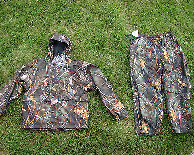 Microfleece Waterproof  Camoflauge Deer Hunting Pants & Jacket Set Burly Camo  M