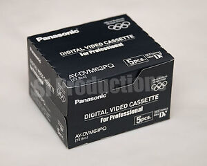 5x-Panasonic-AY-DVM63PQ-miniDV-Cassette-Professional-mini-DV-Tape-5pack-NEW
